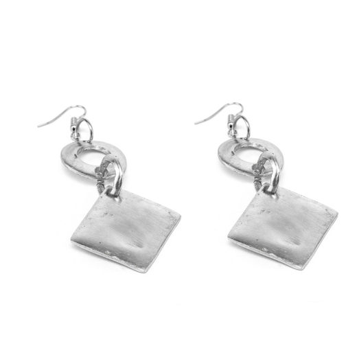 EARRINGS 2 RONDE E LOSANGE