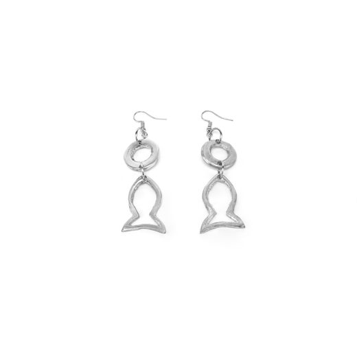 EARRINGS POISSON SIMPLE E RONDE A TROU