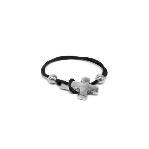 BRACELET BLACK STRING CROSS