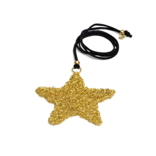 TANGLE WIRE STAR PENDANT
