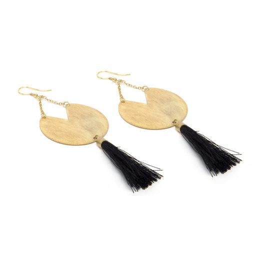 PACMAN TASSEL EARRINGS