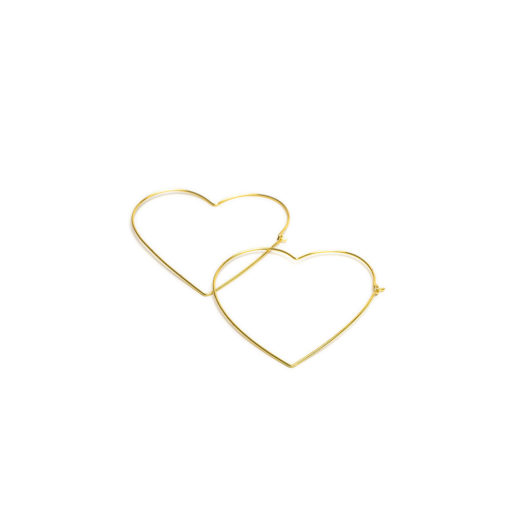 BIG HEART MICRO SHAPE EARRING