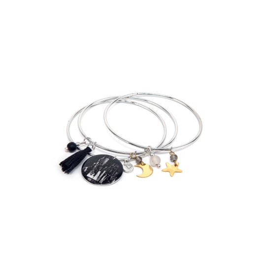 BRACCIALE 3 BANGLE MIX MINI PLACCA N.Y.