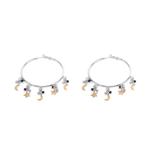 HOOPS EARRINGS MICRO STARS/MOONS
