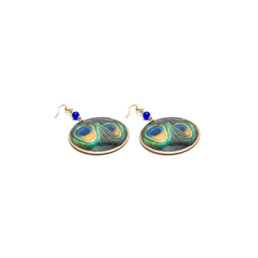 EARRINGS FEATHERS DISC