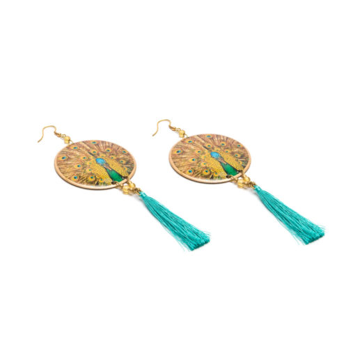 EARRINGS PEACKOK DISC