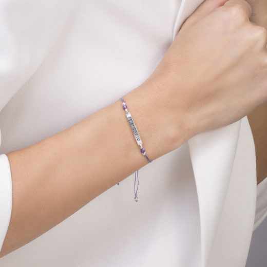 NEVER GIVE UP AMETHYST BRACELET