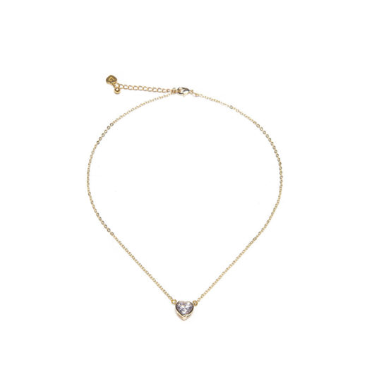 HEART SHORT SOLITAIRE NECKLACE