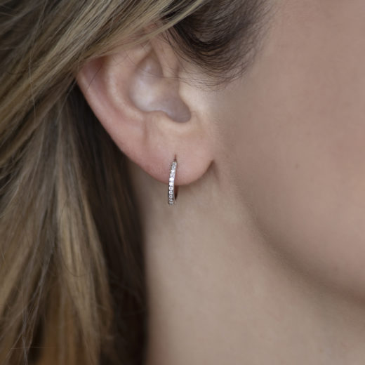 ZIRCONS LITTLE HOOPS EARRINGS