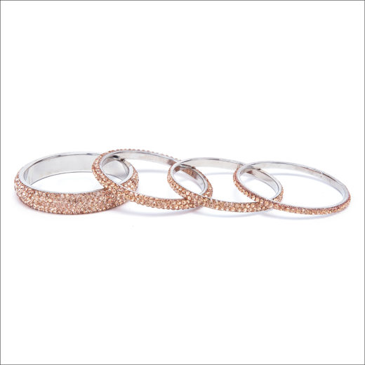 BRACCIALE BANGLE ORO ROSA