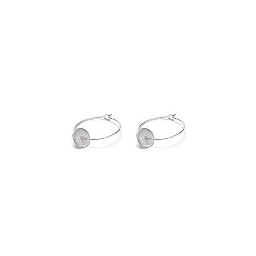 EARRINGS MICRO LINES ROUND FLAT