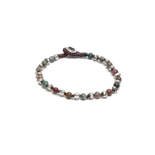 BRACCIALE 1 GIRO MINI SFERE MULTICOLOR
