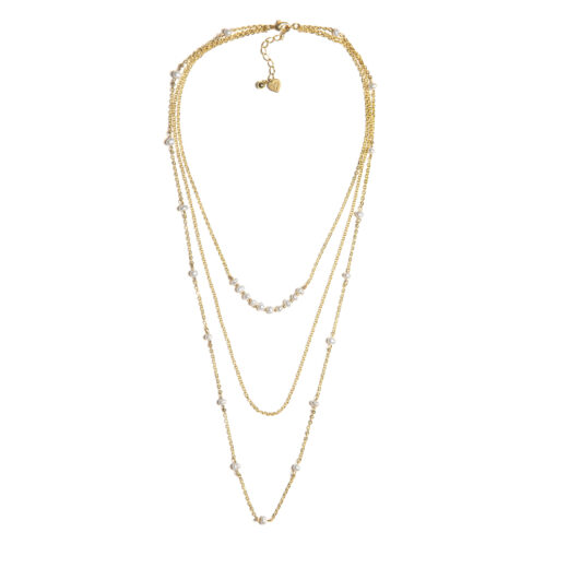 COLLANA 3 CATENE MIX PERLE