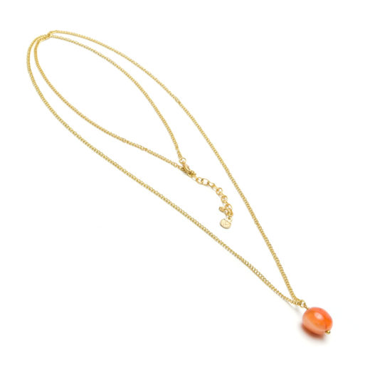 LONG PENDANT NECKLACE CARNELIAN