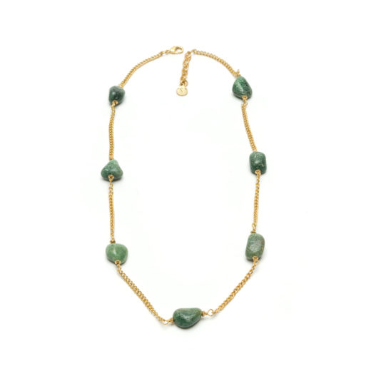 COLLAR NECKLACE GREEN AGATE