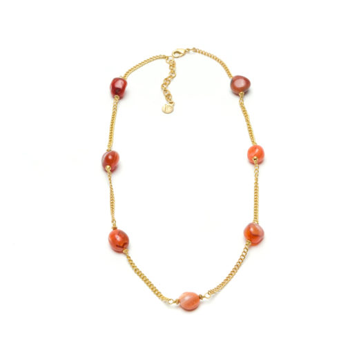 COLLAR NECKLACE CARNELIAN