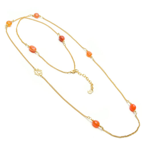 LOTUS NECKLACE CARNELIAN