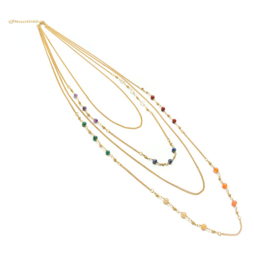 COLLANA CATENE MULTICOLOR