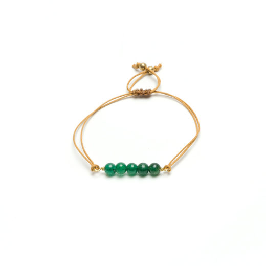 BAR BRACELET GREEN AGATE
