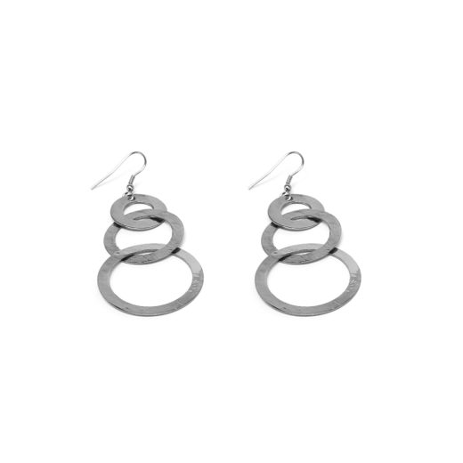 3 CIRCLES CHAIN EARRINGS