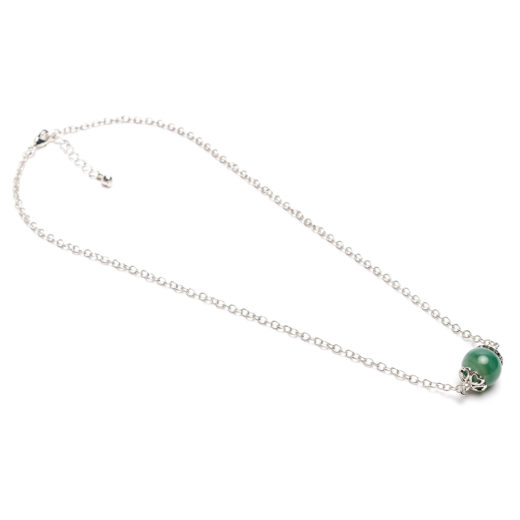 GREEN TOURMALINE STONE NECKLACE