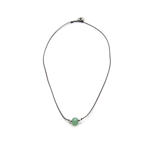 STRING NECKLACE GREEN TOURMALINE