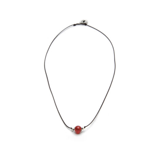 STRING NECKLACE CARNELIAN