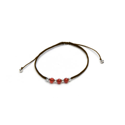ADJUSTABLE BRACELET CARNELIAN