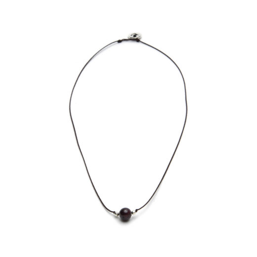 STRING NECKLACE GARNET