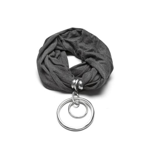 Jewelry Scarf DARK GREY 2 RONDE CONCENTRIC