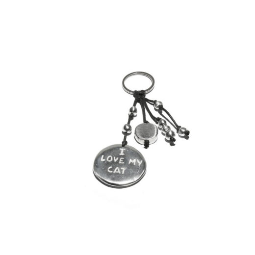 Keychain RONDE I LOVE MY CAT