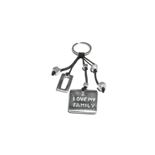 Keychain CARRE' I LOVE MY FAMILY