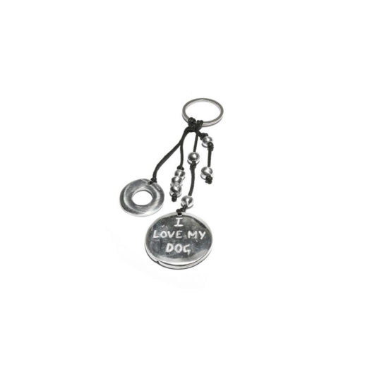 Keychain RONDE I LOVE MY DOG