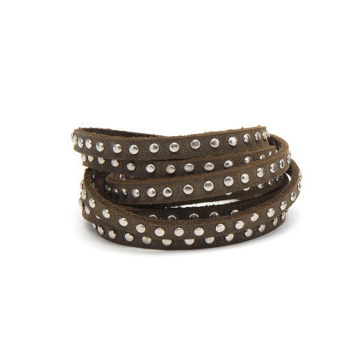 BRACELET 4 ROUNDS STUDS DOUBLE STRING