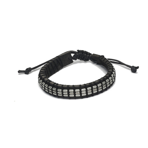 BAND ADJUSTABLE LEATHER AND METAL