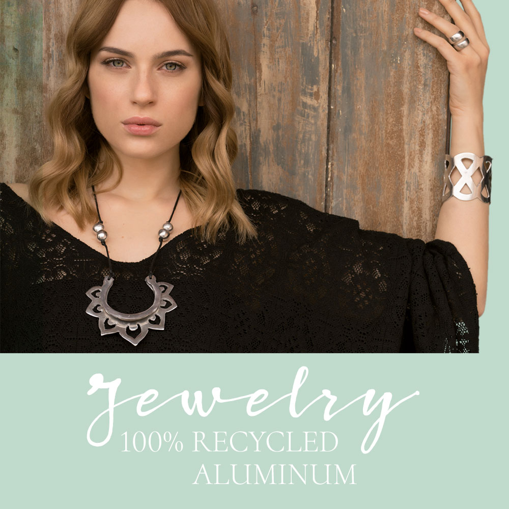 Jewelry 100% Recycled aluminum