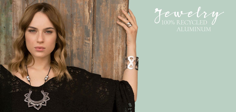 Jewelry 100% recycled aluminum