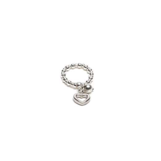 CHARM RING HEART/SPHERE